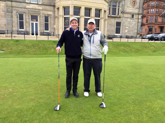 Roy golfing